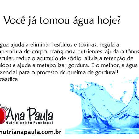 Água…